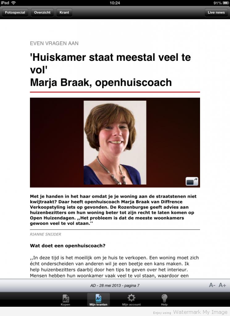 Algemeen Dagblad 28-5-13