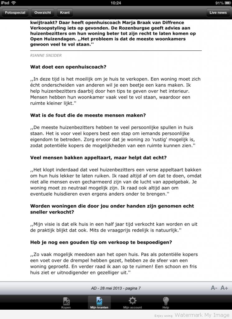 Algemeen Dagblad 28-05-13